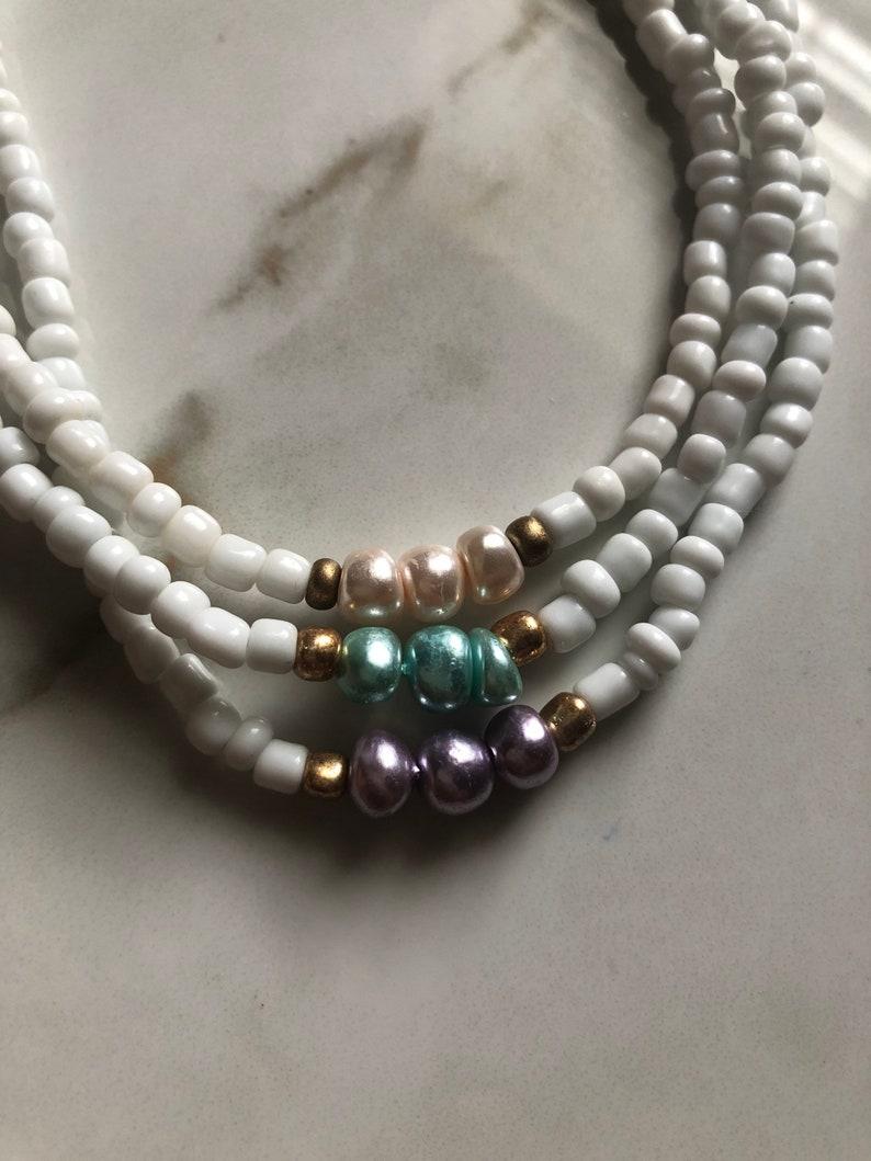 Vsco seed bead choker vsco choker pearl choker beadsbyisabella