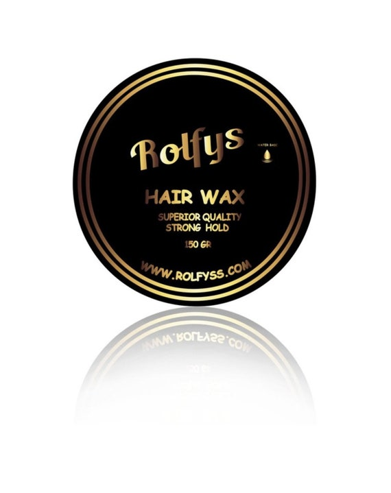 Rolfys Hair Wax Water Base Style Your Hair Barber Stylist Etsy