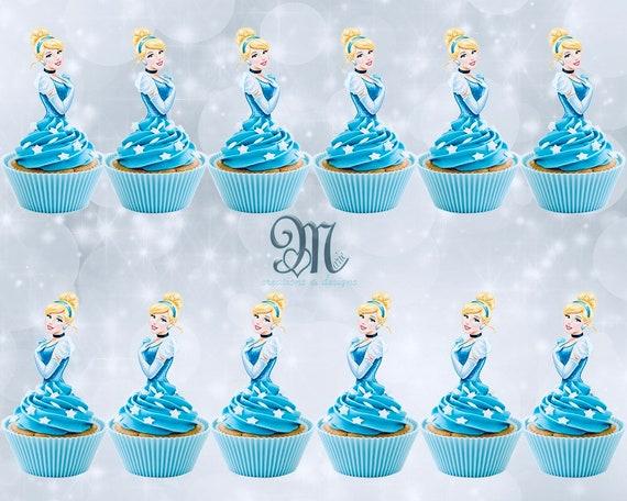 Sensational Cinderella Cupcake Toppers Birthday Party Cupcake Toppers Etsy Birthday Cards Printable Inklcafe Filternl