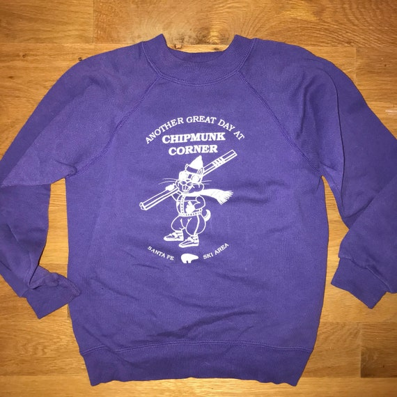 Vintage kids skiing sweatshirt