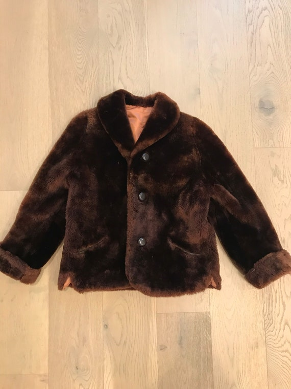 Vintage 60s/70s teddy bear coat