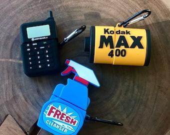 Air Pod Case Covers (Motorola Phone, Kodak Max 400, Fresher Spray Bottle, Air Jordans)