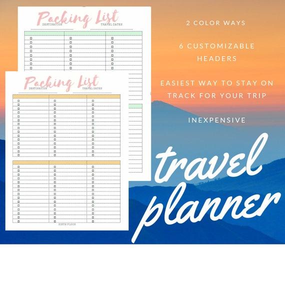 Travel Planner Checklist