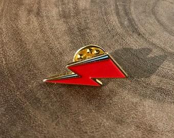 David Bowie Thunderbolt //  Red/ Orange (Enamel Pin)