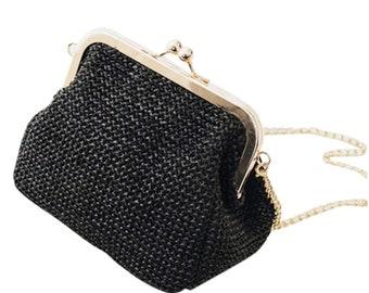 Vintage Woven Crossbody Bag