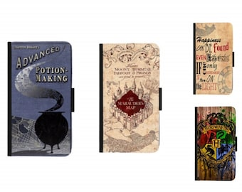 Harry Potter Inspired Potion MakingMarauders MapHogwarts Wallet Style Case For Iphone 4 4s5 5s SE6 6s6 6S 7 8 8plus X Xs XR MAX