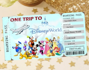 This is an image of Ambitious Free Printable Pretend Disney Tickets