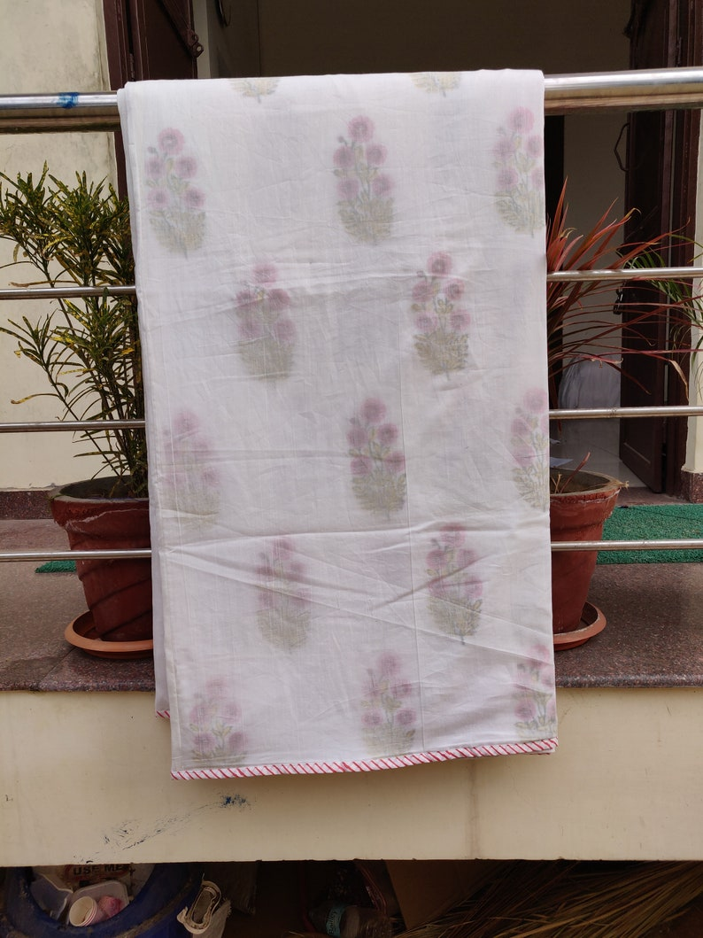 859c9ee286 Hand Block Printed Pure Cotton Double Bed AC Dohar Comforter   Etsy