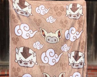 BACKORDER: Appa Momo Friends Fleece Blanket | Wall Art | Home Decor | Nursery Baby Blanket