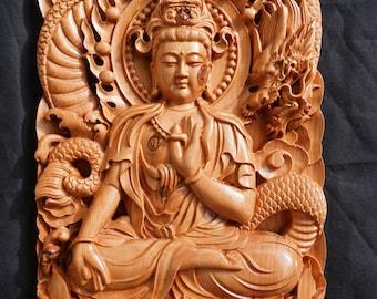 GuanYin Buddha and Dragon