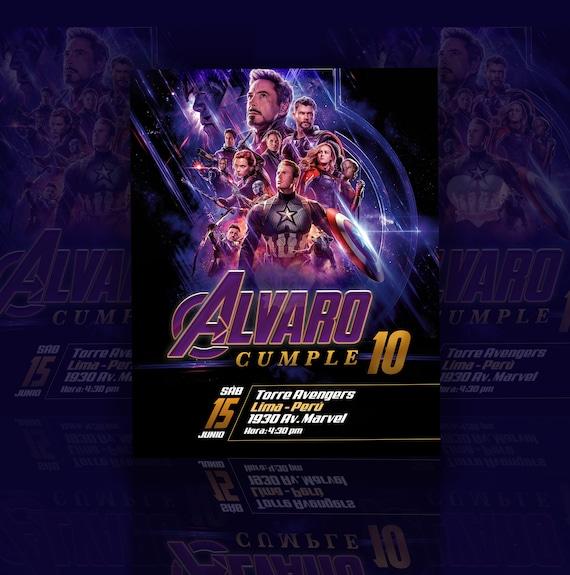 Avengers Tarjeta De Invitación Para Cumpleaños Personalizada Poster Gratis Celebración Felicitaciones