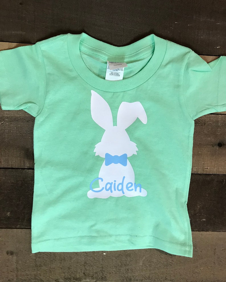 Custom Personalized Easter Bunny Shirts Easter Bunny Kids Easter Shirts Toddler Easter Shirts Easter Pastel Easter Shirts for Kids