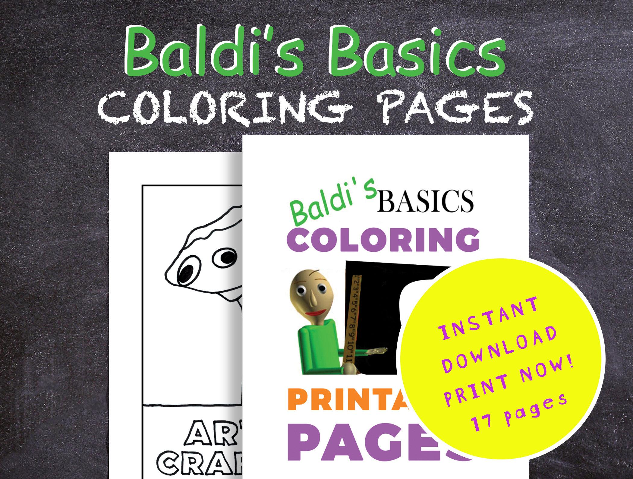 Baldis Basics Coloring Pages Printable Pdf Digital Etsy