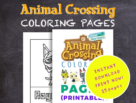Animal Crossing Coloring Pages New Horizon Colouring Pages Etsy