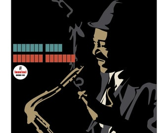 Coleman Hawkins: Wrapped Tight . Limited edition print signed by Eduardo Luzzatti