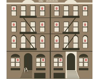 Led Zeppelin: Physical Graffiti - Illustrated cover - Limited edition print signed by Eduardo Luzzatti