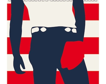 Bruce Springsteen: Born In The U.S.A - Illustrated cover - Limited edition print signed by Eduardo Luzzatti