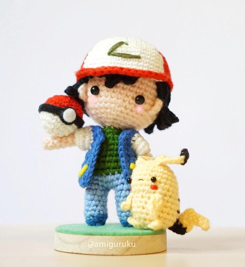 d32869dcdf586 Crochet Pattern of Ash Ketchum Pokemon with Mini Pikachu