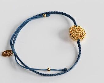 Mandala gold-navy