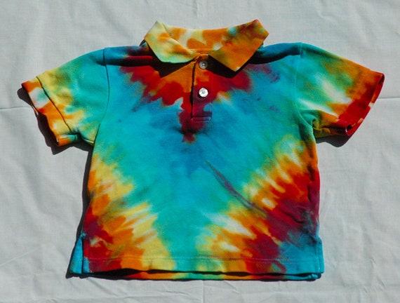 Neuf taille 4 ans Gymboree Tie-Dye à col Polo Shirt 2 bouton ET048
