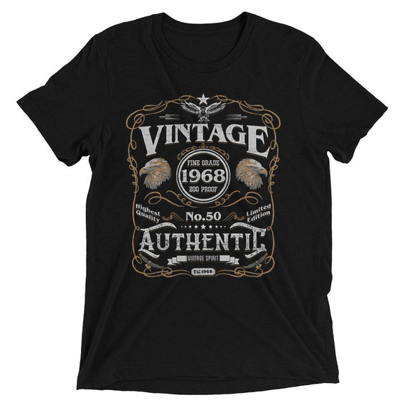 Birthday Born In 1968 50 50th Anniversary Shirt Gift For All Fifty Year Old Men Women Vintage Style Christmas Present Idea