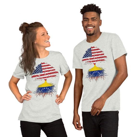 Venezuela Roots Unisex T Shirt Venezuela Usa Flags Shirt Etsy