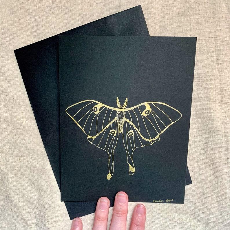 Luna Moth Greeting Card