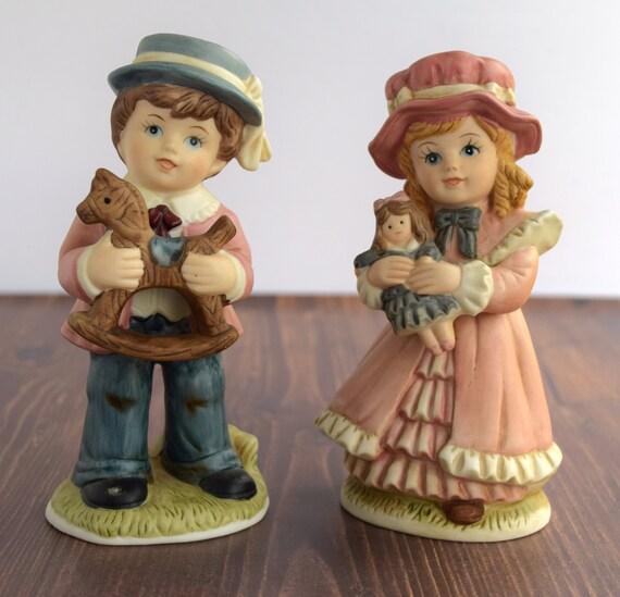 Set of 2 Victorian Children Figurines by Homco # 1419