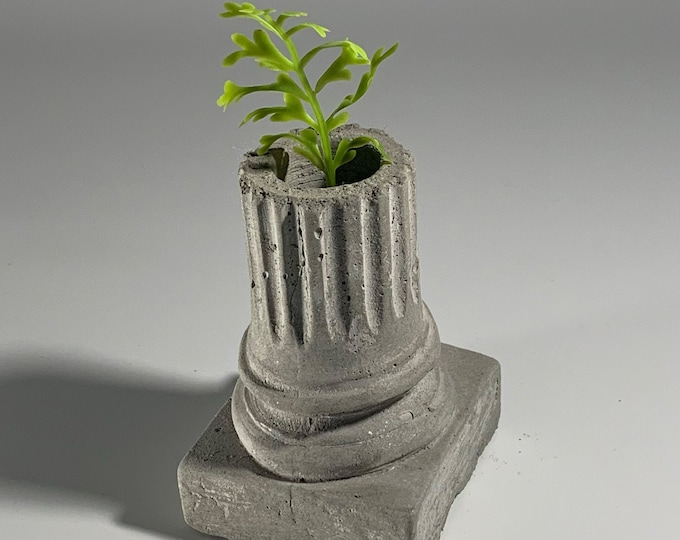 Greek  Ionic Column - Concrete Planter - Office decor - minimalist - decorative pot