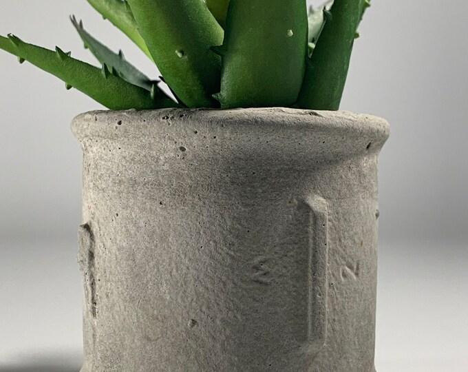 Industrial Pipe Concrete Planter - Succulent Planter - Tea Light - Home Decor