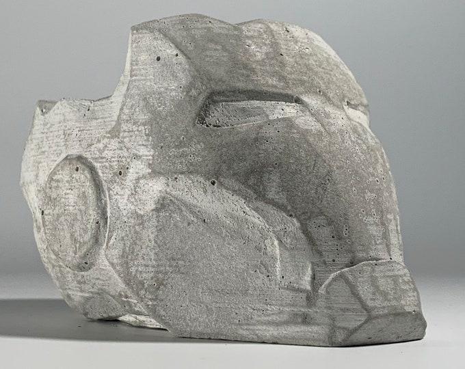 "5.6"" Iron Man  -  Concrete Helmet Planter - Face Planter Pot - Mark 7 - The Avengers - Geek Gift"