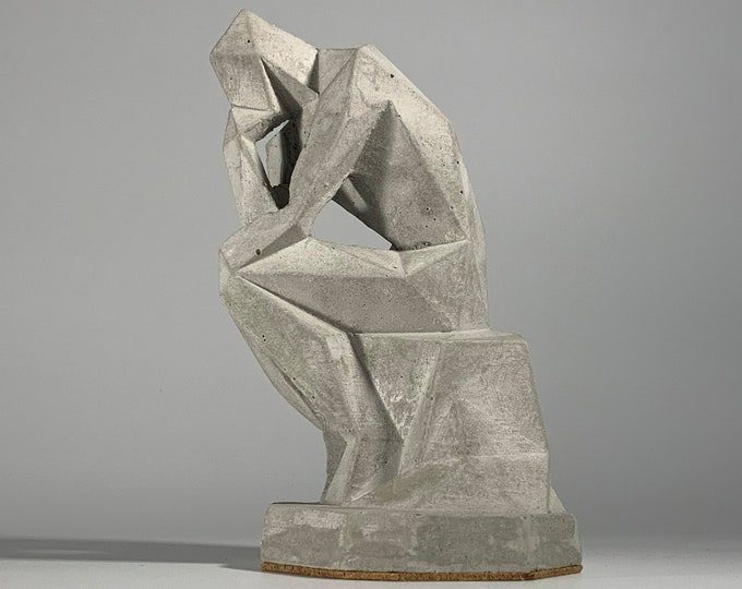 "6.5"" The Thinker - Concrete - Statue - Trophy - Award - Diploma - Graduated - Philosophy - Nude Art"