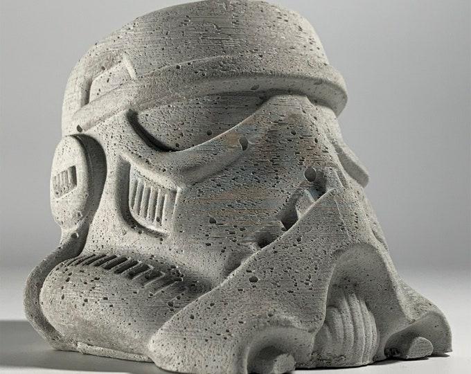 Stormtrooper Concrete Planter - Concrete Plant Pot -  Star Wars Gift - Indoor Plant Pot - Figurines Planters - Home Decor - Geek Gift