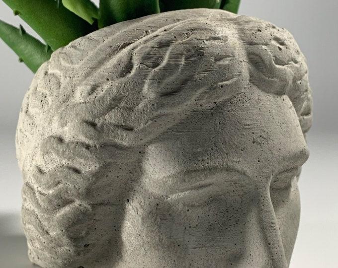 ARTEMIS FACE PLANTER  - Artemis Head Planter - Head Planter - Sculpture Planter - Greek Goddess - Home Decoration - Home Decor