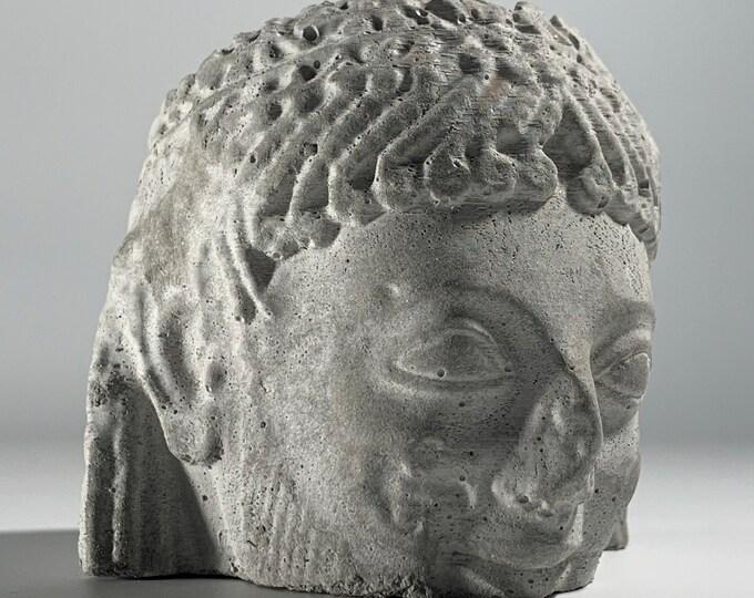 RAMPIN Rider FACE PLANTER  - Horseman Head Planter - Head Planter - Sculpture Planter - Greek Sculpture - Home Decoration - Home Decor