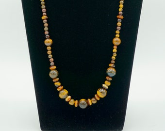 Yellow Tiger's Eye Bead Necklace