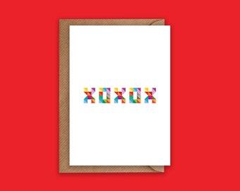 XOXOX - Greeting Card