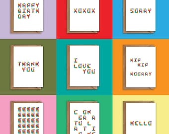 Pack of 8 Greeting Cards - Pick your own