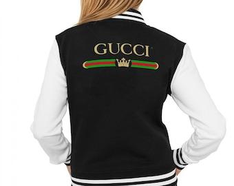 e221ea5c5a8c Pull unisexe MS0084 d inspiration Gucci cire japonais Bomber College veste  Gucci monogrammé impression veste Champion Gucci Gucci Vintage