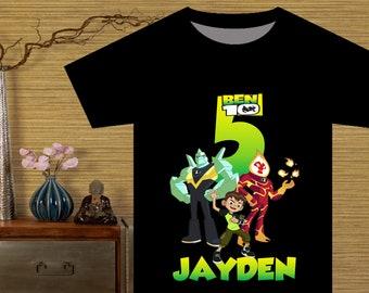 Ben 10 Iron On Transfer Birthday Shirt DIY Party Printable Boy Personalize Name Digital File