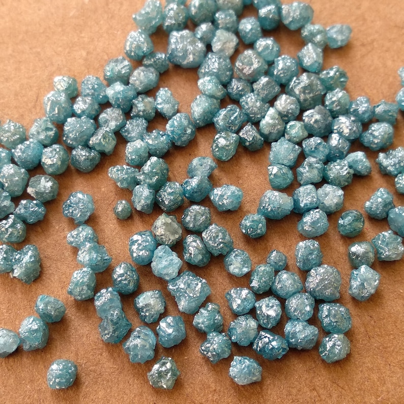 Conflict Free Raw Diamond 2-3mm size Natural Blue Raw Diamond Beads Loose Raw Uncut Rough Diamond 4.00 Ct Lot Natural Blue Rough Diamonds