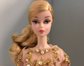 Handmade Dress Outfit Gown For Vintage Repro Silkstone Barbie Fashion Royalty FR