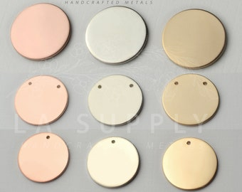 """16mm Disc Blank, 5/8"""" disc, disc blank, round stamping blank, metal stamp blank, gold fill blank, gold filled, sterling silver blank"""