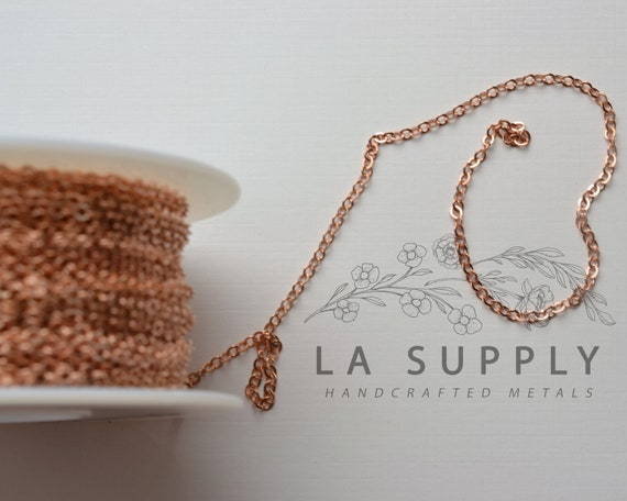 Price by the Foot Half Moon Bar Chain Gold FIlled 8mm Long Rose Gold Fill Bulk Savings Available!!! Sterling Silver