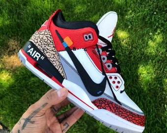 "d6cef59faf3ffc Custom Shoes Jordan 3 ""Like Off-White""    Adidas Vans Jordan Converse  Sneaker Air Max Hypebeast Authentic Old Skool Sk8 Hi"