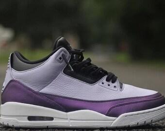 36af83c10 Custom Shoes Jordan Retro 3 Mew Two    Jordan Sneakers Nike Air Hypebeast  Authentic Old Skool High Og Handmade