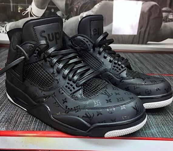 "4c2ab864aa47 Custom Shoes Air Jordan Retro 4 "" Supreme Louis Vuitton""    Sneakers  Hypebeast Authentic Old Skool High Og"