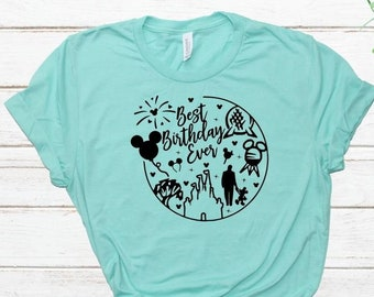 Best Birthday Ever Shirt Disney Vacation DisneyWorld Matching Family Shirts Cute