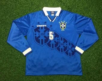 b199ef226 Vintage 90s Umbro Brazil Champion World Cup 1994s Jersey Shirt Soccer Football  Team.