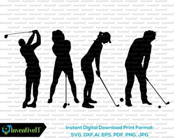 Women Golf Svg Etsy